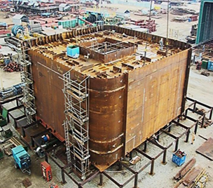 Block Assembly of Lower Column